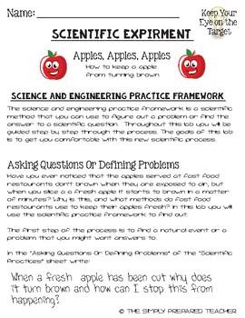 Apples Apples Apples Intro to Next Gen Science Practices