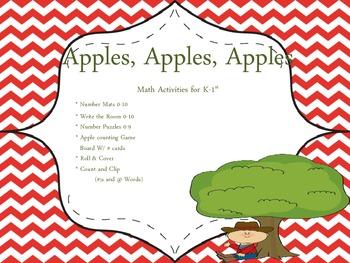 Apples, Apples, Apples - Math Centers K-1