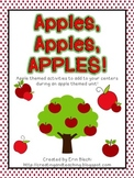 Apples, Apples, Apples Unit