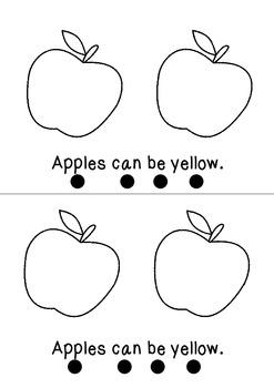 Apples Apples Emergent Reader