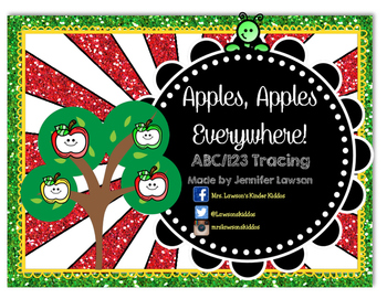 Apples, Apples, Everywhere! ABC and 123 Tracing