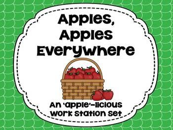 Apples, Apples Everywhere! {An Applelicious Work Station Set}