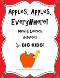 Apples, Apples, Everywhere! {Math & ELA Activities for BIG Kids}