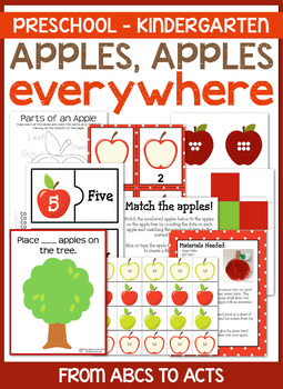 Apples, Apples, Everywhere!  Pre-K & K Pack