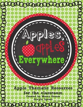 Apples Apples Everywhere printable classroom thematic resources on apples