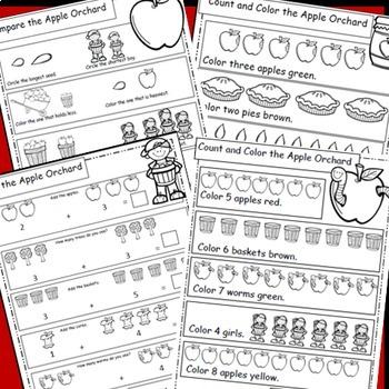 Apples, Math Worksheets, Apple Theme For Your Apples Unit, Fall Math
