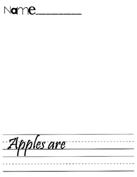 Apples Are.... (writing)
