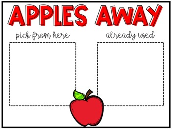Apples Away - A getting to know you EDITABLE community building game!