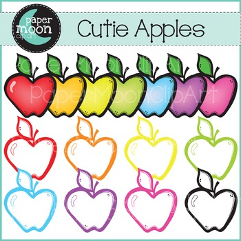 Apples  - Back To School Set - Paper Moon Clip Art