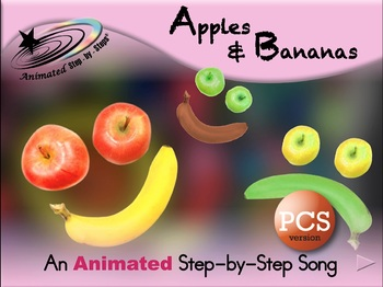 Apples & Bananas - Animated Step-by-Step Song - PCS