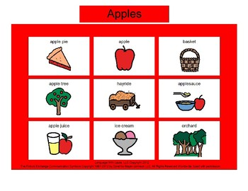 Apples Bingo! [speech therapy and autism]