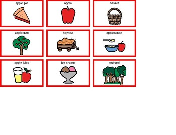 Apples Bingo! Single Board [speech therapy and autism]