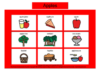 Apples Bingo! Multiple Boards [speech therapy and autism]