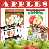 Apples Bundle: Nonfiction Unit, mini-books, and Math Printables