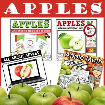 Apples Bundle: Non-Fiction Unit, mini-books, and Math Printables