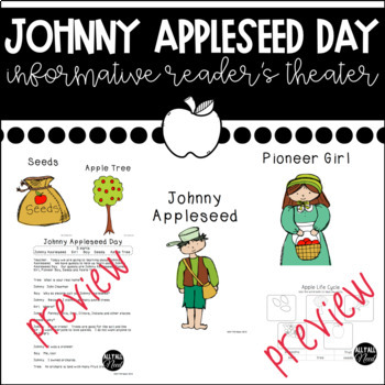 Apples Bundle:  Fact & Opinion Plus Johnny Appleseed Reader's Theater