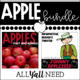 Apples Bundle Fact and Opinion plus Johnny Appleseed Readers Theater