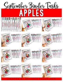 Apples Binder- Independent Work Binder System