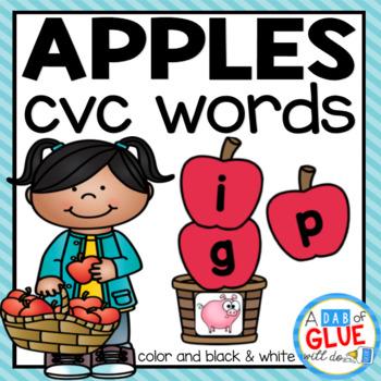 Apples CVC Word Building Activity
