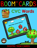 Apples CVC Words and Pictures BOOM Cards™ Distance Learning