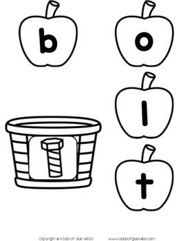 Apples CVCC Word Building Activity