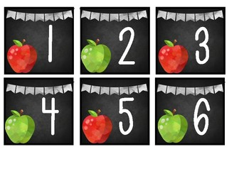 Apples Calendar Set