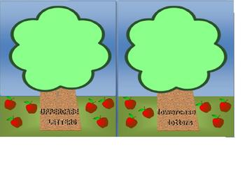 Apples - Capital and Lowercase Letter Recognition