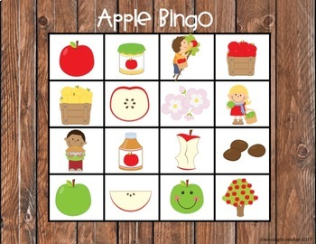 Apple Themed Center Activities for Math and Literacy