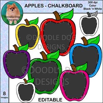 Apples - Chalkboard - Clip Art