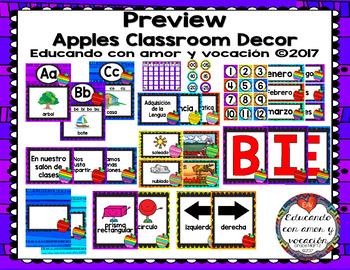 Apples Classroom Decor (SPANISH)