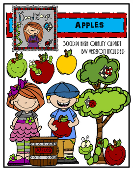 Apples Clipart (Free For 1st 100 downloads!)