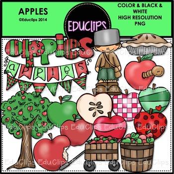 Apples Clip Art Bundle {Educlips Clipart}