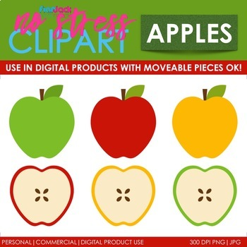 Apples Clip Art (Digital Use Ok!)