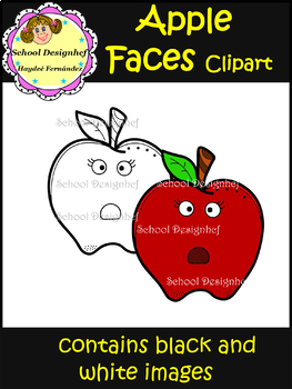Apple Faces - Clip Art - School (School Designhcf)