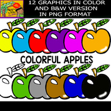 Apples - Cliparts set - 12 Items