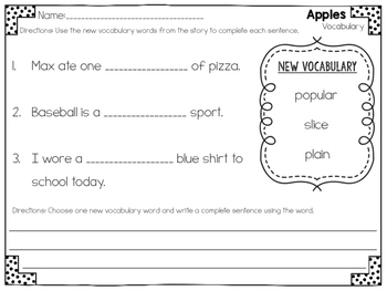 Apples Close Reading Practice