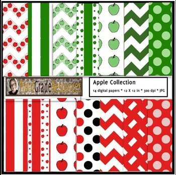 Apples Collection Digital Paper