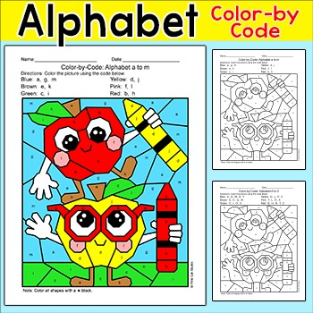 Apples Alphabet Color by Code- Fall Activities