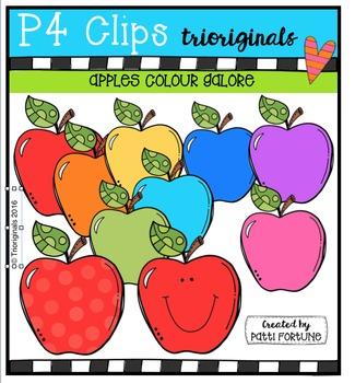 Apples Colours Galore {P4 Clips Trioriginals Digital Clip Art}