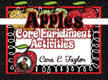 Apples ~ Common Core Enrichment Activities, Centers and Craftivities