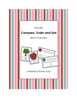 """""""Apples"""" Compare, Order and Sort Math Centers"""