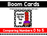 Apple Boom Cards:  Comparing Numbers 0 to 5 {More}