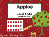 Apples Count & Clip 1-30