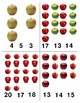 Apples: Count and Clip Cards for Math Centers