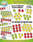 Apples Counting and Ten Frames Clipart {Zip-A-Dee-Doo-Dah Designs}