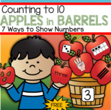 Apples Counting to 10 - Seven Ways to Show Numbers FREE