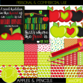 Apples Digital Paper & Clip Art Set