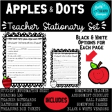 Apples & Dots Back to School Stationary Set & Classroom Forms