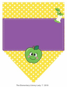 Apple Faces Apples EDITABLE Pennants Chevrons Flags - Small and Large