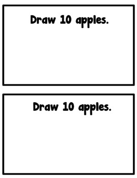 Apples Emergent Reader (Counting With Color Words)